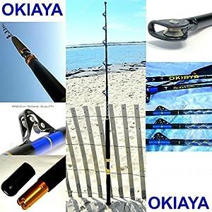 OKIAYA 5'6ft COMPOSIT Mack Daddy 30-80LB Saltwater Big Game Roller Rod