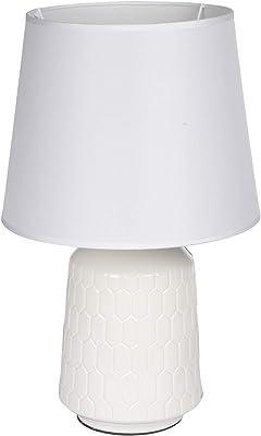HOMEA 6LCE124BC LAMPE, CERAMIQUE, 40 W, Blanc, DIAMETRE25H39.5CM