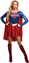 Rubie's Official Supergirl Ladies Fancy Dress Superhero Womens Adults Super Girl Costume Outfit