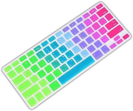 Ainstsk della Tastiera, Copertura della Tastiera in Silicone per Tastiera PC della Pelle per Apple MacBook 33cm 38,1cm Arcobaleno di Adesivi per Tastiera - Trova i prezzi più bassi