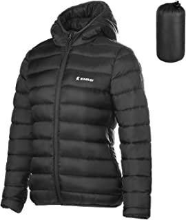 ZINRAY Women's Thermolite Hooded Jacket Packable Lightweight Puffer Insulated Coat for Travel Outdoor Hiking