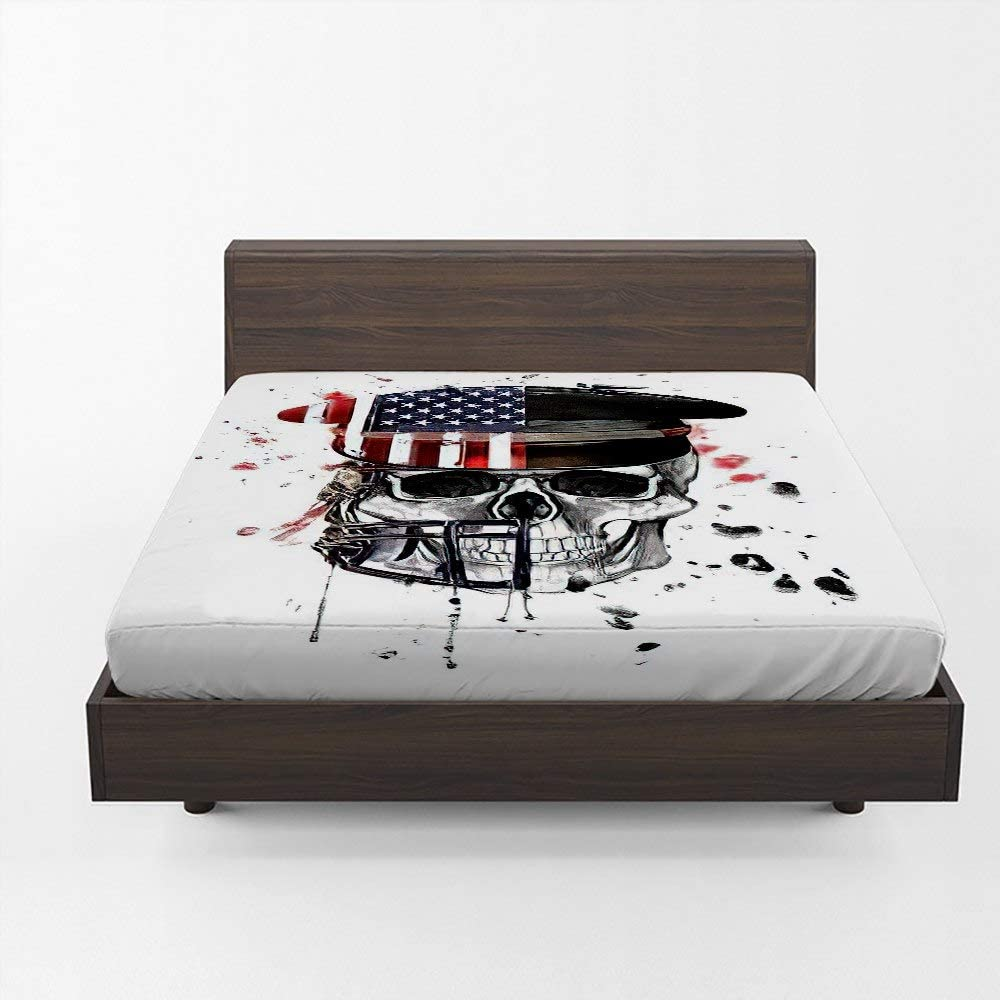 Under blast sales Aopaka Skull Evil Full Ranking integrated 1st place Fitted Sheet 12 Deep Inch Go Only Pocket