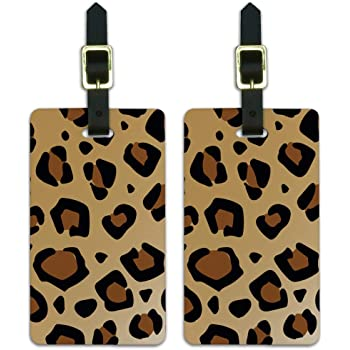 Personalized Peach CamoflaugeLuggage Tag 2 pack