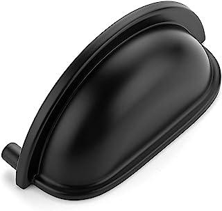 "Ravinte 20 Pack 3"" Drawer Pulls Flat Black Cabinet Cup Pulls Kitchen Hardware Cabinet Handles Matte Black Drawer Handles K..."