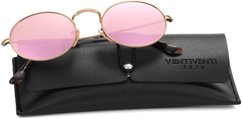 2020VentiVenti Vintage Sunglasses for Unisex Metal Frame Round Lens 17032