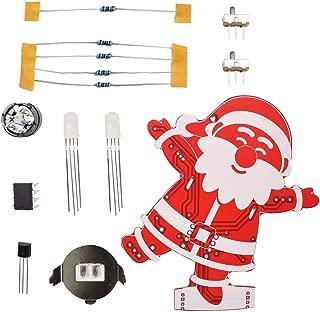 GXOK DIY Santa Claus Christmas Tree Decoration Pendant Music Kit LED Electronic Kits Xmas Ornament Gifts Toys