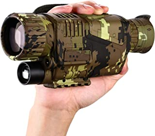 BOBLOV Digital Night Vision Monocular 5x8 Optics Scope Night Vision Infrared Monoculars with 16GB Card for Hunting Observe...