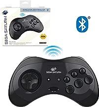 Retro-Bit Official Sega Saturn Bluetooth Controller 8-Button Arcade Pad for Nintendo Switch, PC, Mac, Steam - Black