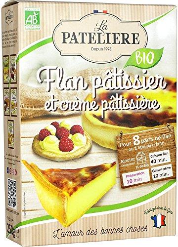 LA PATELIERE Préparation Bio pour Flan Pâtissier/Crème Pâtissière