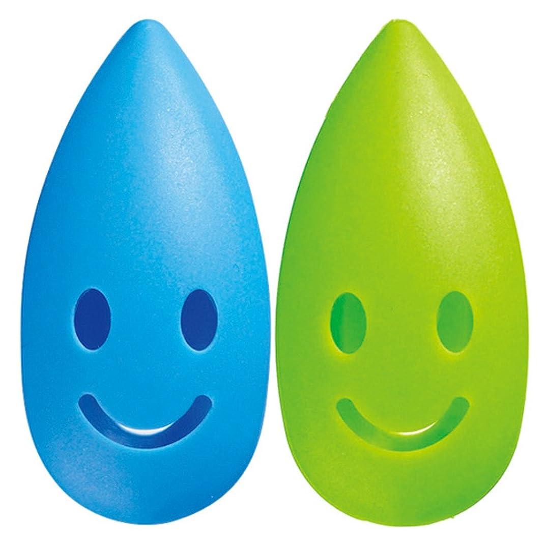 ラブ手書きステートメントマーナ ハブラシキャップ 「カラースパイス」 ブルー×グリーン W433B