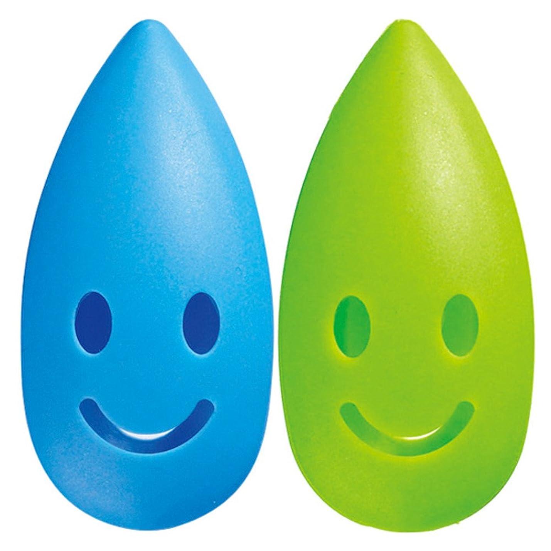 平和的やむを得ない参加するマーナ ハブラシキャップ 「カラースパイス」 ブルー×グリーン W433B
