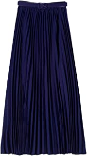 Best navy pleated maxi skirt Reviews