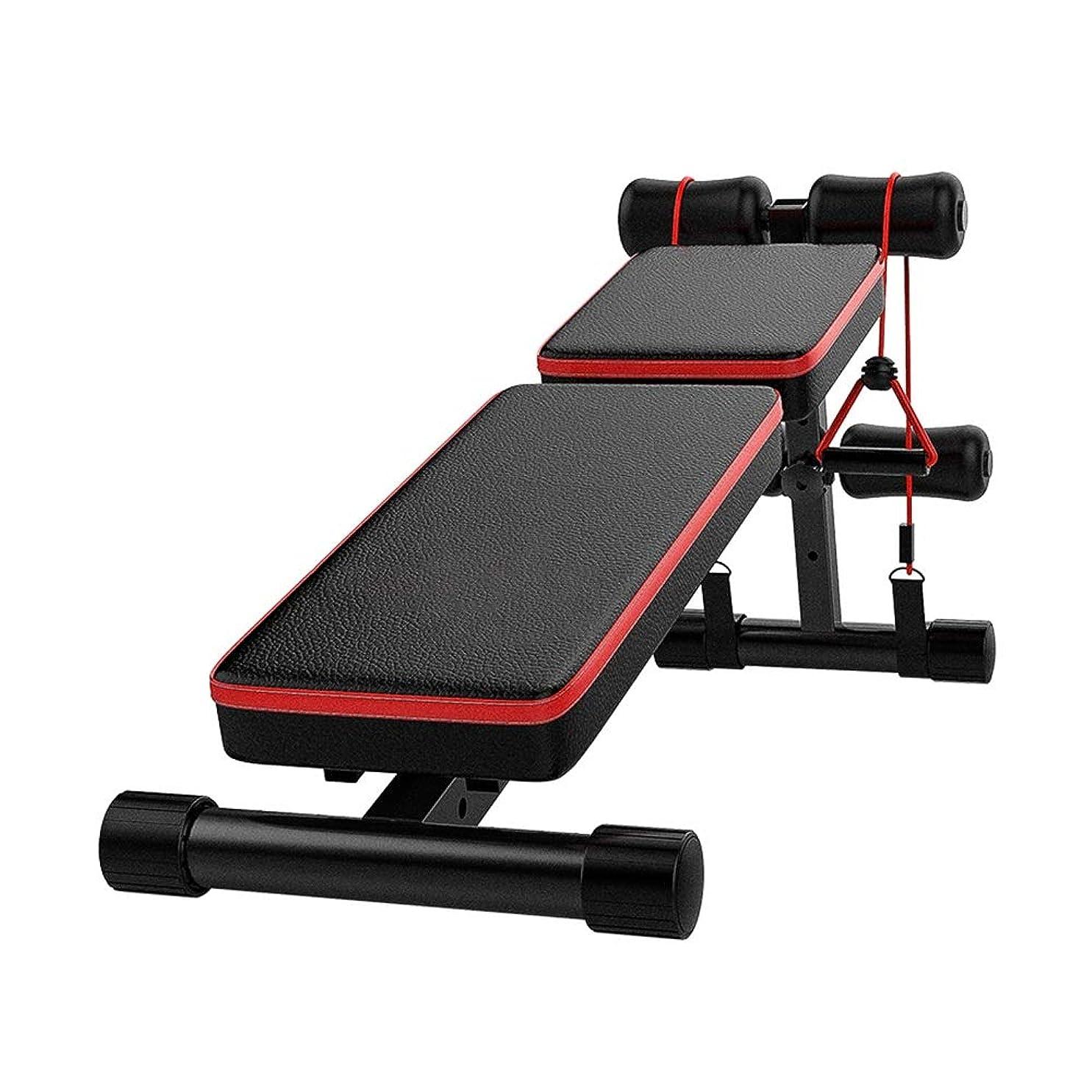 欠席恨みきらめくDUXX ダンベルベンチ、腹筋補助フィットネス機器ホーム多機能仰臥位ボード腹筋ベンチプレス トレーニングベンチ