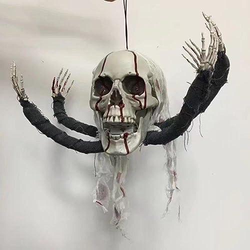 liquidación hasta el 70% MFFACAI Halloween, cráneo del Pulpo, Zombi de la iluminación iluminación iluminación del Ojo, Material del ABS del Alto Grado, Pintura de la simulación, 1  1 Proportion Que Hace, 1.5kg  precio al por mayor