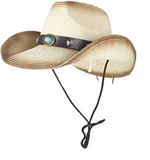 LiWen Zheng Western Cowboy Strew Hats Men Summer Straw Cowgirl Party Costume Crimping Western Hat Sombrero Hombre Cowboy Hats For Men