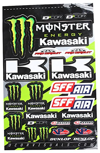 D'cor Visuals 40-20-116 Kawasaki Decal Sheet, 1 Pack