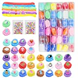 SWZY Fluffy Slime Kit,Air Dry Clay,Butter Slime,Slime Fluffy,Ultra Light Modeling Dough Magic Clay Stress Relief 36pcs
