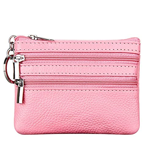 d3a7c4824 Women's Genuine Leather Coin Purse Mini Pouch Change Wallet with Key Ring