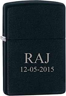 Groomsman Gift Personalized Black Matte Zippo LIGHTER - Free Laser Engraving