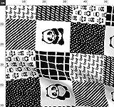 Panda, Patchwork, Schwarz Weiß, Niedlich, Modisch, Zoo