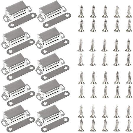 Onehous Loquet Magnetique Porte Aimant robuste jusqu/'/à 20 kg Meubles 8 Pi/èces Pour Tiroirs Porte de Douche Aimant/é Armoire Placard Cabinet loqueteaux magn/étiques 72mm-8pack