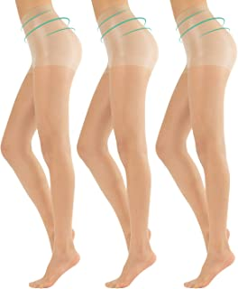 CALZITALY Drei Paar Daily Shaping Strumpfhose | Feine Transparente Strumpfhosen mit Figurformende Wirkung für den Alltag | S, M, L, XL | Hautfarben, Schwarz | 20 DEN | Made in Italy
