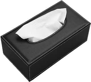 BTSKY - Caja de pañuelos de poliuretano y cuero, forma