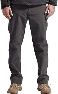 FREE SOLDIER Men's Outdoor Softshell Fleece Lined Cargo Pants Breathable Waterproof Windproof Tactical Warm Snow Ski Hiking Pants