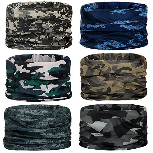 Headwear, Head Wrap, Neck Gaiter, Headband, Fishing Mask, Magic Scarf, Tube Mask, Face Bandana Mask, Neck Balaclava and Sport Scarf 12 in 1 Sweatband for Fishing, Hiking, Running, Motorcycling