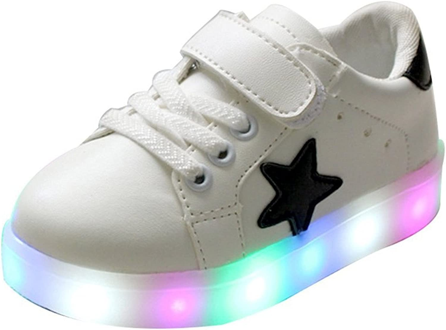 Uerescha Boy's Girl's Sneakers Toddler shoes Kids Lighting Illuminated LED Flash Sports shoes