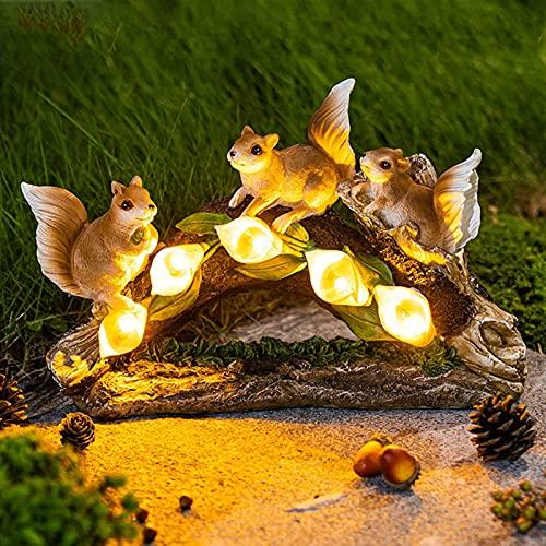 Gartendeko Figuren Garten GNOME Statue Solar Leuchte, Solar Led Gartenzwerg Statue Harz Dwarf Statue FüR Terrasse, Vorgarten, Garten, Geschenk (C)