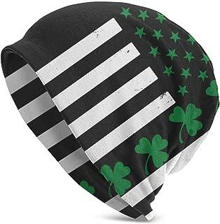YongColer Beanies Men Women - Unisex Irish American Flag Shamrock Cuffed Plain Skull Knit Hat Cap