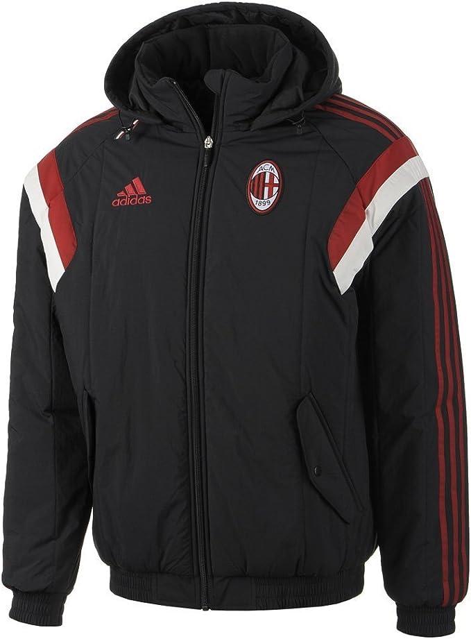 Adidas ac Milan giacca imbottita cappotto 2014 nero F83754 taglie XS, S, M, L, XL