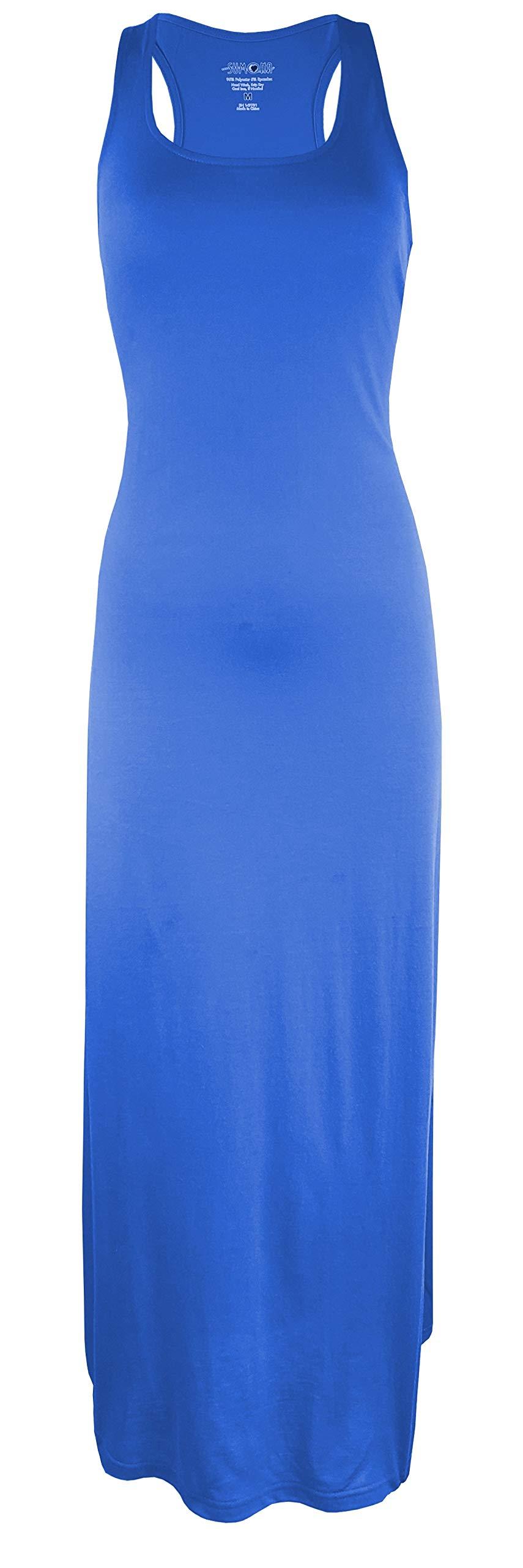 Available at Amazon: SUMONA Women Long Tank Tops Midi Maxi Dress Bodycon Sleeveless Racerback