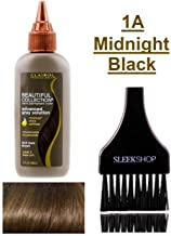 Clairol BEAUTIFUL COLLECTION Advanced Gray Solutions SEMI-PERMANENT Hair Color Dye (w/Sleek Tint Brush) No Ammonia No Peroxide Haircolor Moisture Shine Grey (1A - Midnight Black)