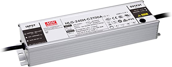 MEAN WELL Single Output LED Driver Power Supply, 250W 2.1A @ 59-119VDC - HLG-240H-C2100A