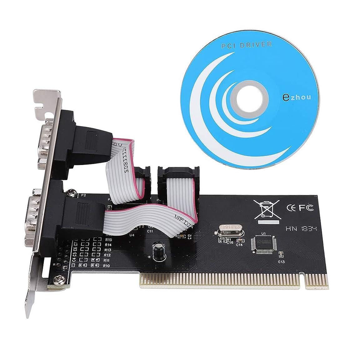 PCIデスクトップDB9シリアルインターフェイス ASHATA PCI-シリアルDB9 R232 2ポートコントローラーアダプターカード Windows 2000/2003 / XPオペレーティングシステム用 シリアルCOMインターフェイスカードx 2