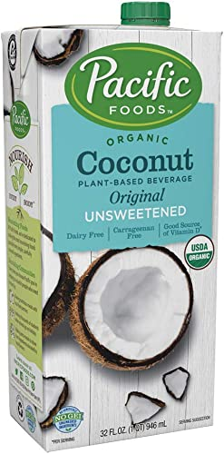 high quality Pacific popular Foods Organic Coconut Unsweetened Original Plant-Based Beverage, 32oz, 12-pack wholesale Keto Friendly online