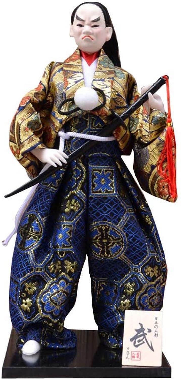 Japanese Unique Samurai Vintage Sushi Bar Decor Doll Figurine Y