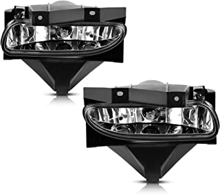 AUTOSAVER88 Fog Lights For Ford Mustang 1999 2000 2001 2002 2003 2004 (OE Style Clear Lens with Bulbs)