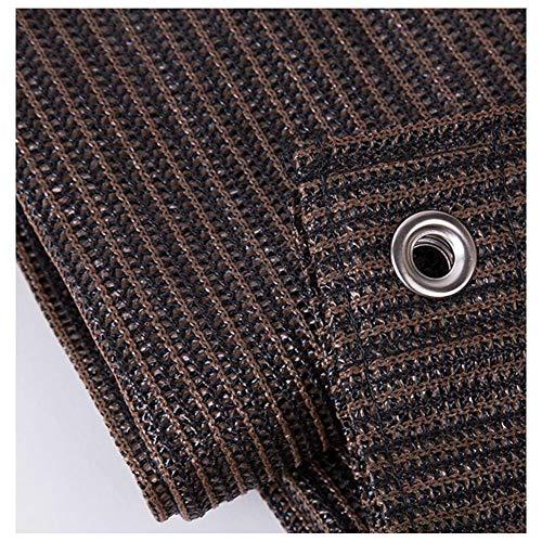 Dall Tela De Sombra con Ojales Tarea Pesada Lona De Malla Resistente A Los Rayos UV Sombra del Jardín del Patio Costuras Reforzadas (Color : Brown, Size : 2×2m)