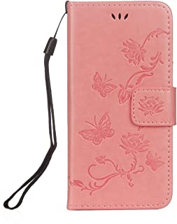 IKASEFU Compatible with iPhone 6//6S 4.7 inch Pu Leather Wallet Strap Case Card Slots Shockproof Magnetic Leather Folio Flip Book Cover 3D Painted Pattern Stand Protective Case,Pink tree