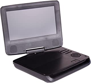 """LASER Portable DVD Player 7"""" Wide Screen with Bonus Pack, 1024x600pixels, 180 Degree Swivel, Remote Control,"""