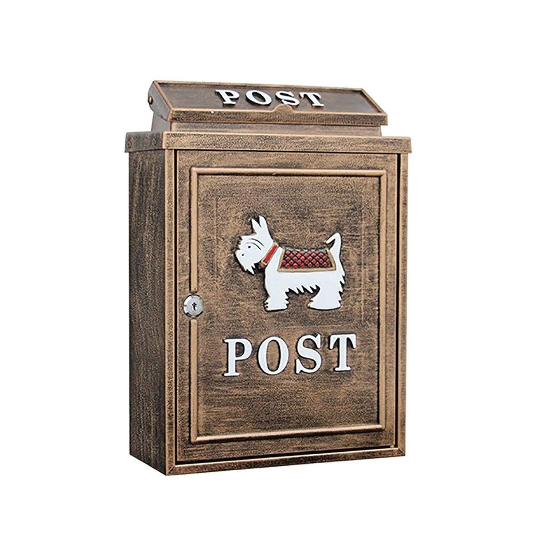 YANFEI Mailbox メールボックスウォールマウント、クローズドメールボックス、屋外メールボックス、子犬、41 * 29 * 13 Cm (Color : C)