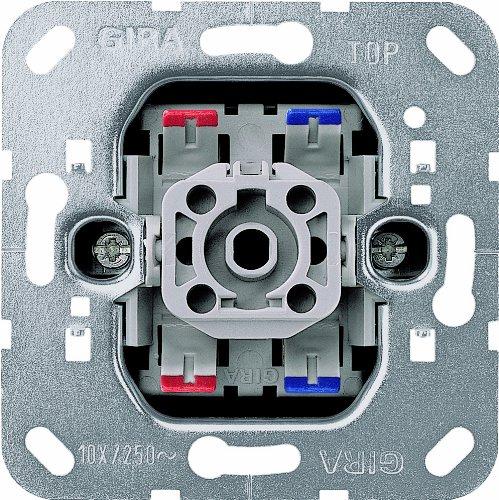 Gira 1078492 Wippschalter 011200 Aus 2-pol Kontroll Einsatz, 250 V, Metallisch