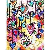 GDNTCJKY Diamante Pittura Fai da Te Amore dei Cartoni Animati di Trapani per Adulti Pasted Arts Craft per la Decorazione della Parete di casa Albero colorato 30 * 40cm