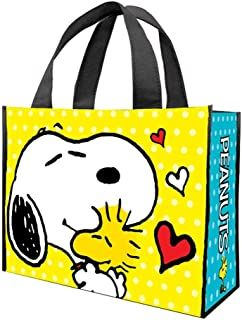 Vandor 85473 Peanuts Large Recycled Shopper Tote/Beach Bag, Pack of 2