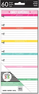 The Happy Planner Daily Planning Half Sheets - 60 Pre-Punched Double-Sided Pages - Daily Schedule & Checklist Layouts - Or...