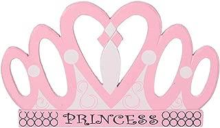 Darice JCD-04 Painted Carved Wood Princess Crown, 5-Inch