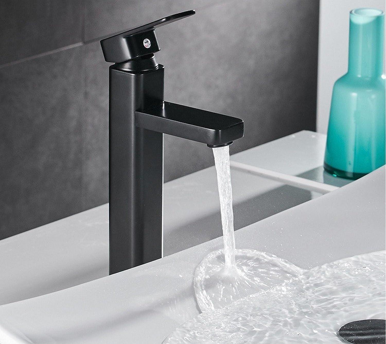 Rmckuva Bathroom Sink Taps Brass Modern Single Handle Faucet Bathroom Faucet Basin Black Paint Sink Faucet Blender